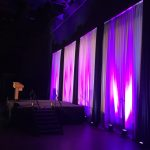 40' Half Hall Premier Backdrop w lighting